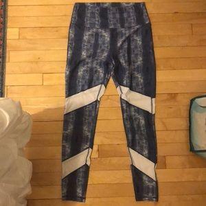 Blue workout leggings